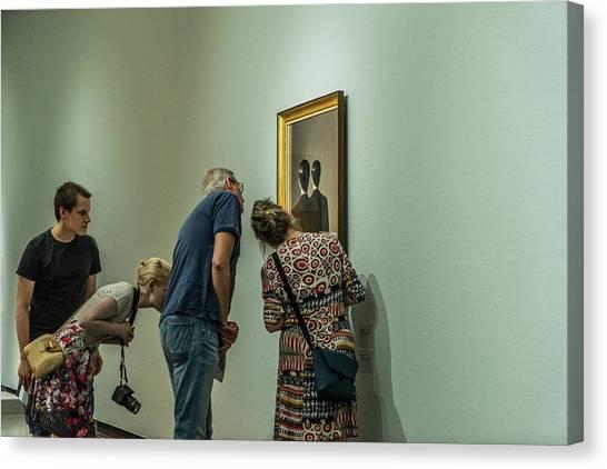 The Art Of Enjoying Art Canvas Print by Susanne Stoop