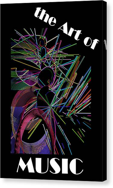 The Art Of Music With Spy Canvas Print