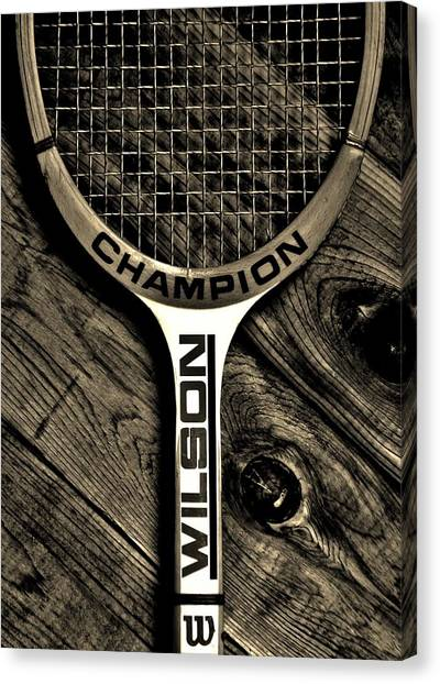 Tennis Racquet Canvas Print - The Art Of Tennis 2 by Benjamin Yeager