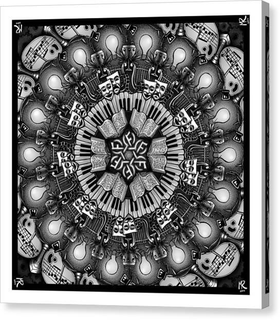 Mandalart Canvas Print