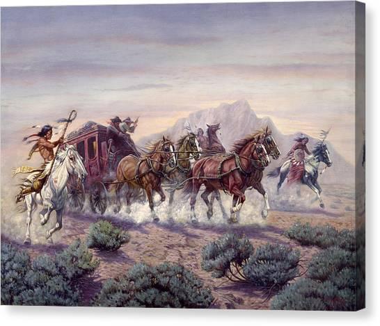 North Dakota Canvas Print - The Attack by Gregory Perillo