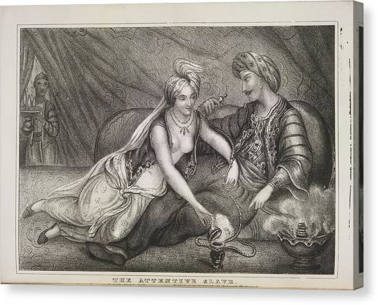 Sex Slaves Canvas Print - The Attentive Slave by British Library