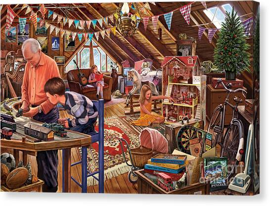 Grandpa Canvas Print - The Attic by Steve Crisp