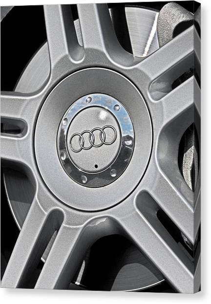 The Audi Wheel Canvas Print