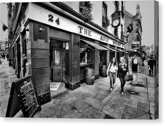 The Auld Dubliner Canvas Print