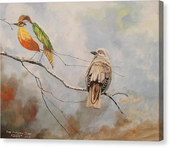 The Autumn Bird Canvas Print
