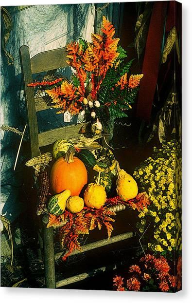 The Autumn Chair Canvas Print