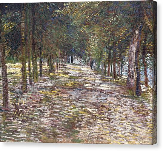 1880s Canvas Print - The Avenue At The Park by Vincent Van Gogh