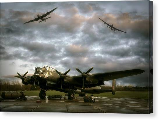 The Avro Lancaster Trio Canvas Print