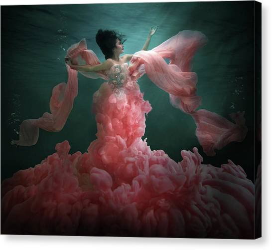 Underwater Canvas Print - The Awakening Of Flora by Martha Suherman