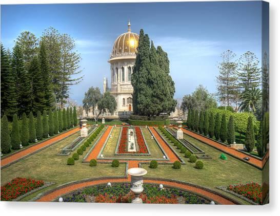 The Bahai Gardens Canvas Print