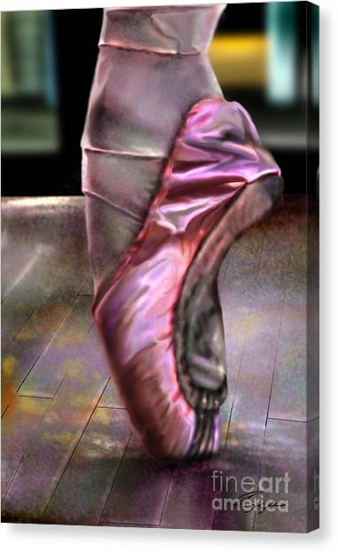 Ballet Shoes Canvas Print - The Ballerina by Reggie Duffie