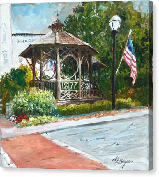 The Bandstand In Triangle Park Chagrin Falls Canvas Print