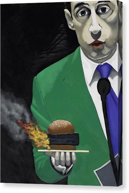 Hamburger Canvas Print - The Banlieu Burger by Marcella Lassen