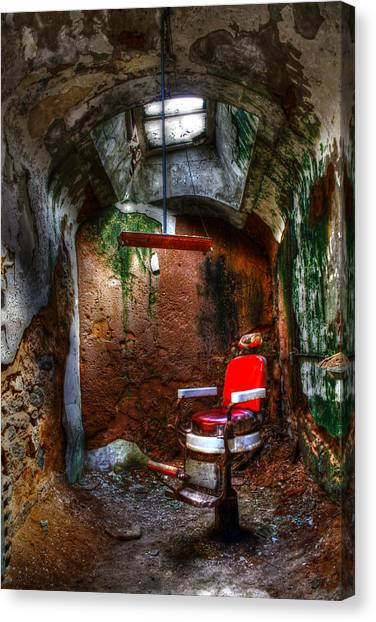 Philidelphia Canvas Print - The Barber Chair by David Simons