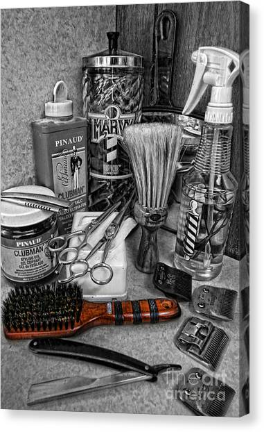 The Barber's Brush Canvas Print