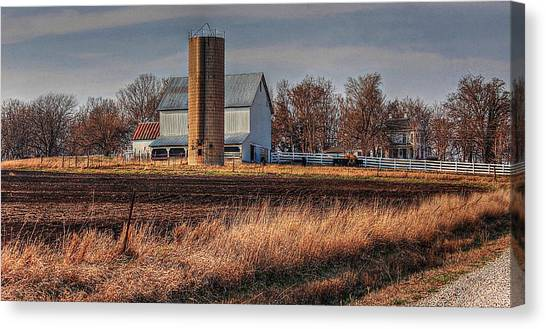 The Barn On The Hill Canvas Print