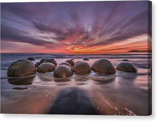 Boulder Canvas Print - The Barrier by Andreas Agazzi