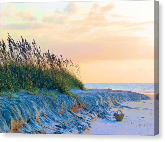 Beach Sunrises Canvas Print - The Basket by JC Findley