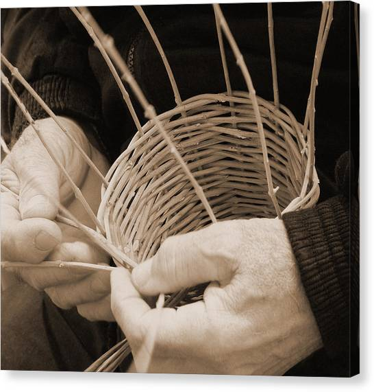 The Basket Weaver Canvas Print