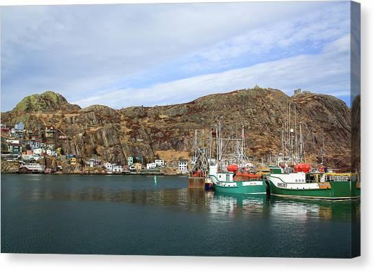 Newfoundland And Labrador Canvas Print - The Battery, St John's, Newfoundland by Patrick J. Wall