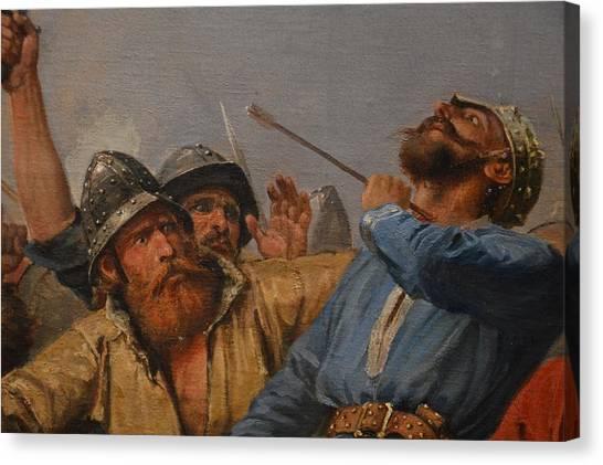 Stamford Bridge Canvas Print - The Battle Of Stamford Bridge by Peter Nicolai Arbo