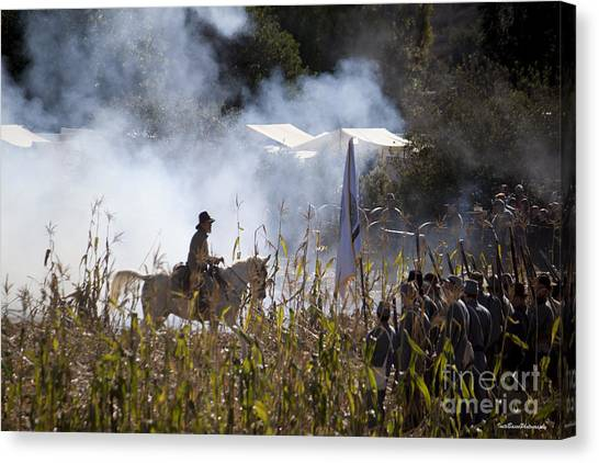The Battle Scene Canvas Print