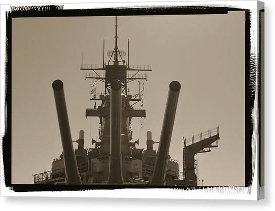 Missles Canvas Print - The Battle Ship Iowa by See My  Photos