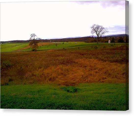 The Battlefield Of Gettysburg Canvas Print