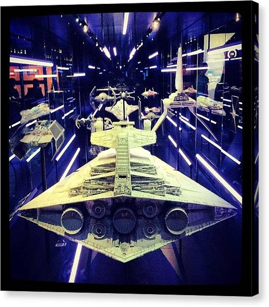 Jedi Canvas Print - The Battleships Of Starwars! by Eric Dick