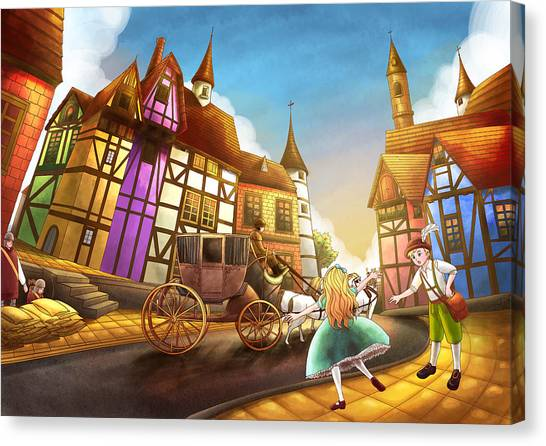 The Bavarian Village Canvas Print