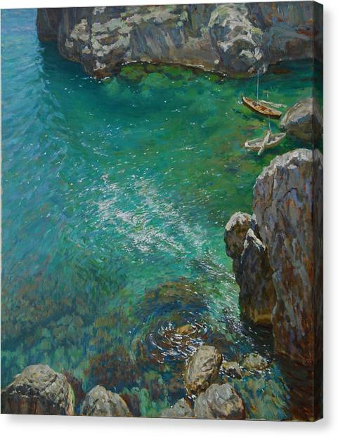 The Bay Canvas Print by Korobkin Anatoly