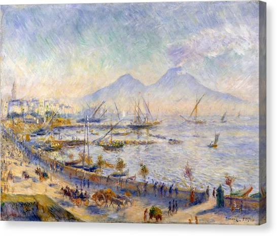 The Metropolitan Museum Of Art Canvas Print - The Bay Of Naples by Pierre-Auguste Renoir