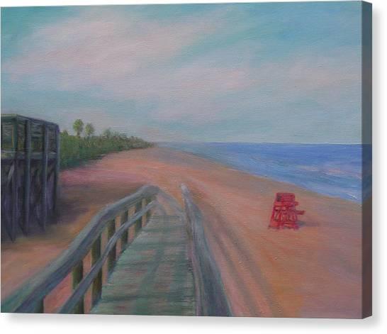 The Beach At Flagler Beach Canvas Print