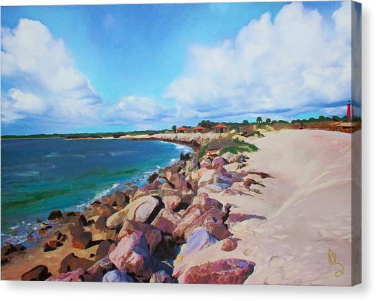 The Beach At Ponce Inlet Canvas Print