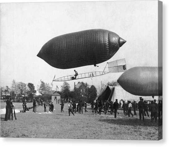 Blimps Canvas Print - The Beachey Airship by Underwood Archives