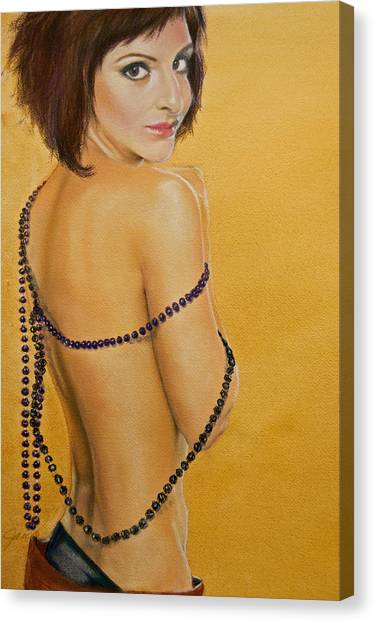 The Beaded Shawl Canvas Print