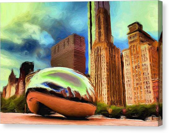 Cloudgate Canvas Print - The Bean - 20 by Ely Arsha