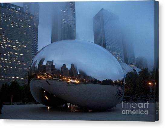 The Bean And Fog Canvas Print