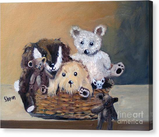 The Bears Are Back In Town Canvas Print by Sharon Burger
