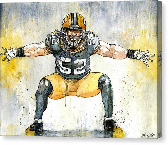 Clay Matthews Canvas Print - The Beast by Michael  Pattison