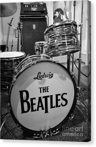Drums Canvas Print - The Beat Goes On by Mel Steinhauer