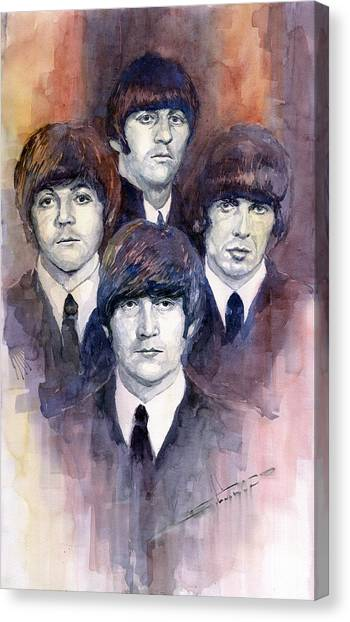 George Harrison Canvas Print - The Beatles 02 by Yuriy Shevchuk