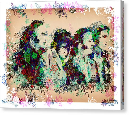 George Harrison Canvas Print - The Beatles 10 by Bekim Art