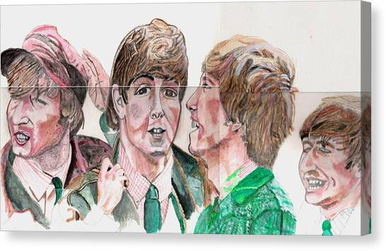 The Beatles 3 Canvas Print by David Garren