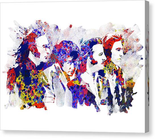 George Harrison Canvas Print - The Beatles 4 by Bekim Art
