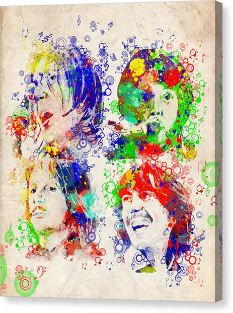 George Harrison Canvas Print - The Beatles 5 by Bekim Art