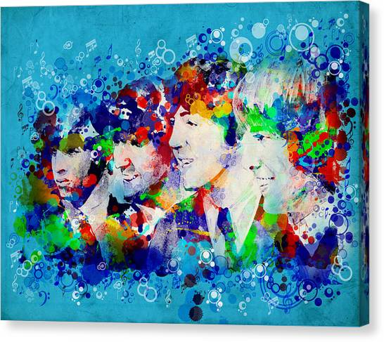 George Harrison Canvas Print - The Beatles 6 by Bekim Art