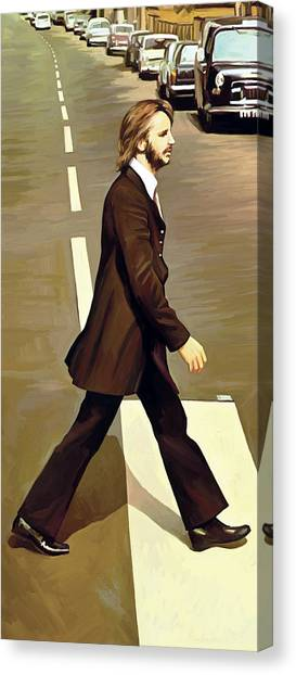 The Beatles Abbey Road Artwork Part 3 Of 4 Canvas Print