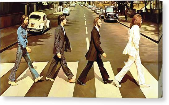 Roads Canvas Print - The Beatles Abbey Road Artwork by Sheraz A